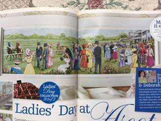Ladies' Day At Ascot Cross Stitch in 3 Series
