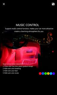 Music Activated multi colour led set