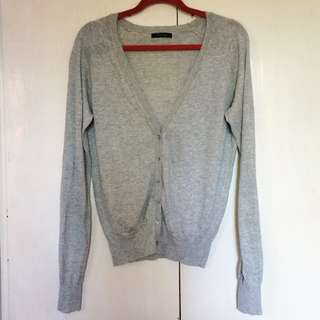 6-Button Gray Cardigan