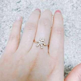 Rose Gold Bear Ring