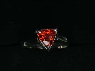Fire Hessonite Garnet Ring
