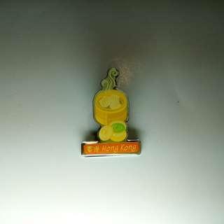 Collar pin: Hong Kong Dim Sum.