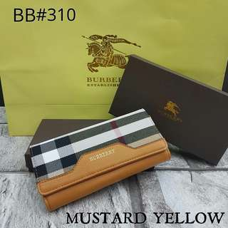 Burberry Wallet Mustard Yellow