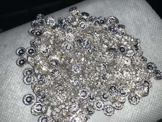 Flat Round Brass Crystal Rhinestone Spaces, Silver Plated, 10mm x 3mm, 2mm hole, 350pcs
