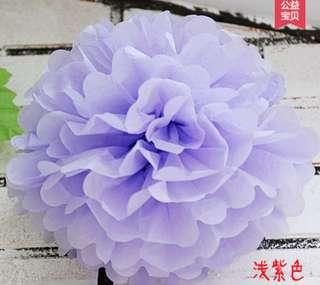 Tissue Pom Poms - Lilac