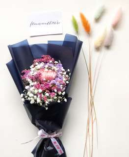 Fresh Flower Bouquet single stalk pink carnation with baby's breath and mixed flower fillers