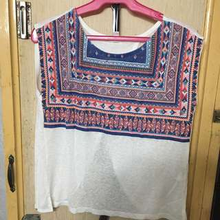 Beach top blouse