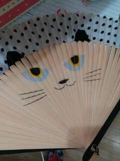 可愛貓咪摺扇