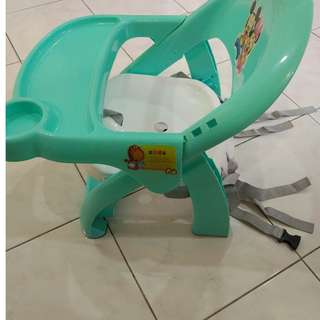 Baby Kids Foldable Seat Dining Chair n table