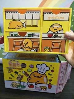 蛋黃哥三層抽屜造型收納盒