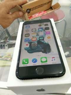 Iphone 7 128gb Jett black mulus apik fullset original ex international