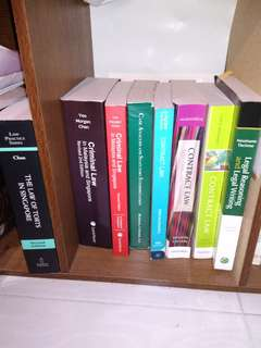 All NUS Law Year 1 Original Textbooks (Full Reading List)