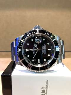 Authentic Rolex Oyster Submariner 16610 Black Dial Automatic Steel Casing Bracelet