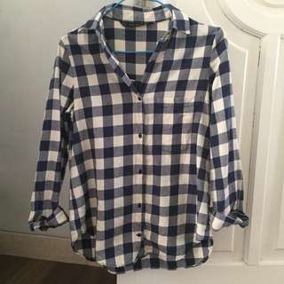 Zara checkered tartan shirt
