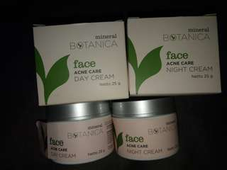 Mineral Botanica face acne care day and night cream