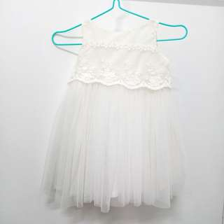 White Dress for Christening with Cap 6-9mos