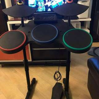 Guitar Hero Drum & Microphone set with DJ hero