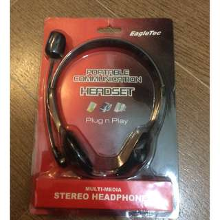 EagleTec Portable Communication Headset  全新平放