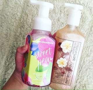 BBW SWEET PEA HANDSOAP (sabun cuci tangan)