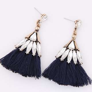 [INSTOCKS] Bejewelled Tassel Statement Earrings