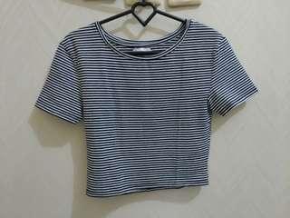Zara croptop stripes