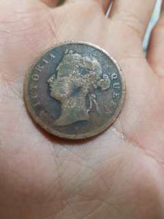 Old Coin Queen Victoria 1 Cent 1887