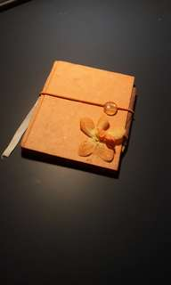 Orange Flower notebook