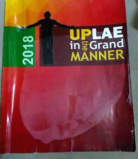 UPLAE REVIEWER 2018 edition