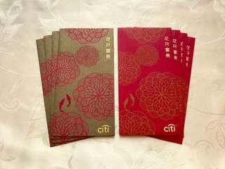 8pcs Citibank 2018 (SG) red packet / ang pow pao