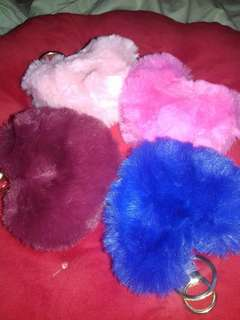 Onhand Cute Heart Fur Keychain