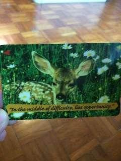 Deer phonecard Singtel collectible