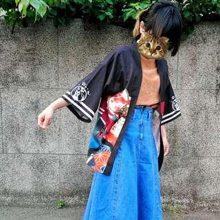 日式罩衫外套 貓咪