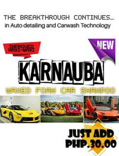 Karnauba Waxed Foam Car Shampoo ( 1 US gallon )