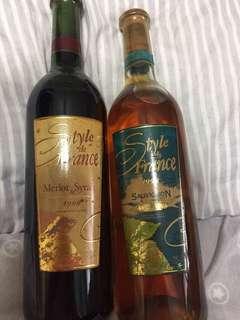 Super vintage wine (Style De France)