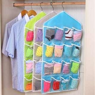 16 Grid Underwear/Socks Organizer Bag