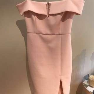 Sportsgirl Pink Strapless Dress