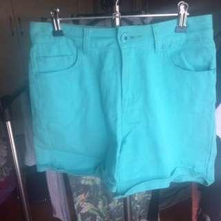 Glassons Blue / Green Shorts