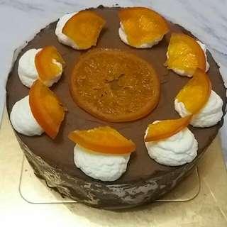 朱古力慕斯生日蛋糕, 巧克力慕斯, chocolate musse cake