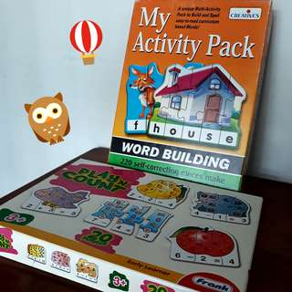 Creative's Word Building & Frank Play 'N' Count for 3 years old and above toddler / kid