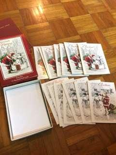 Christmas card box set Santa Claus