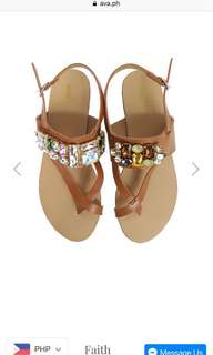 Flats thong sandals with jewels summer must have