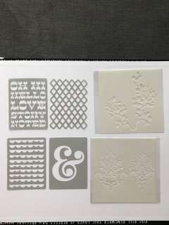 6 for $8 stencils for use with sprays and distress inks