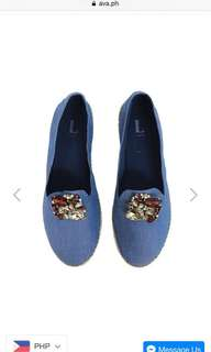 Denim espadrille with jewels summer must have