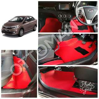 OTTOMAN PU LEATHER CAR CARPET PERODUA