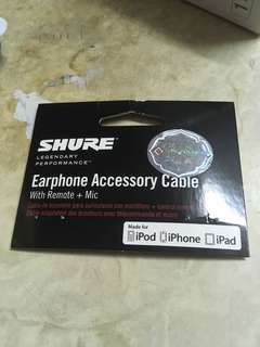 Shure Apple iPhone 專用線 (有咪)