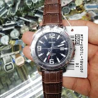 Casio MTP-VD01 Men's Watch Silver Original