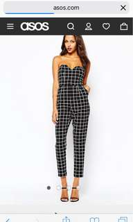 Boohoo Jumpsuit - Black and white