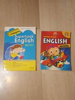 Pre-School English Practice Books