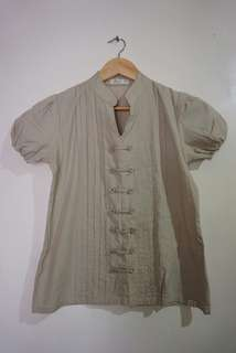 Chinese-collar Blouse
