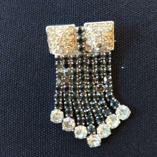 Vintage rhinestone, diamante brooch